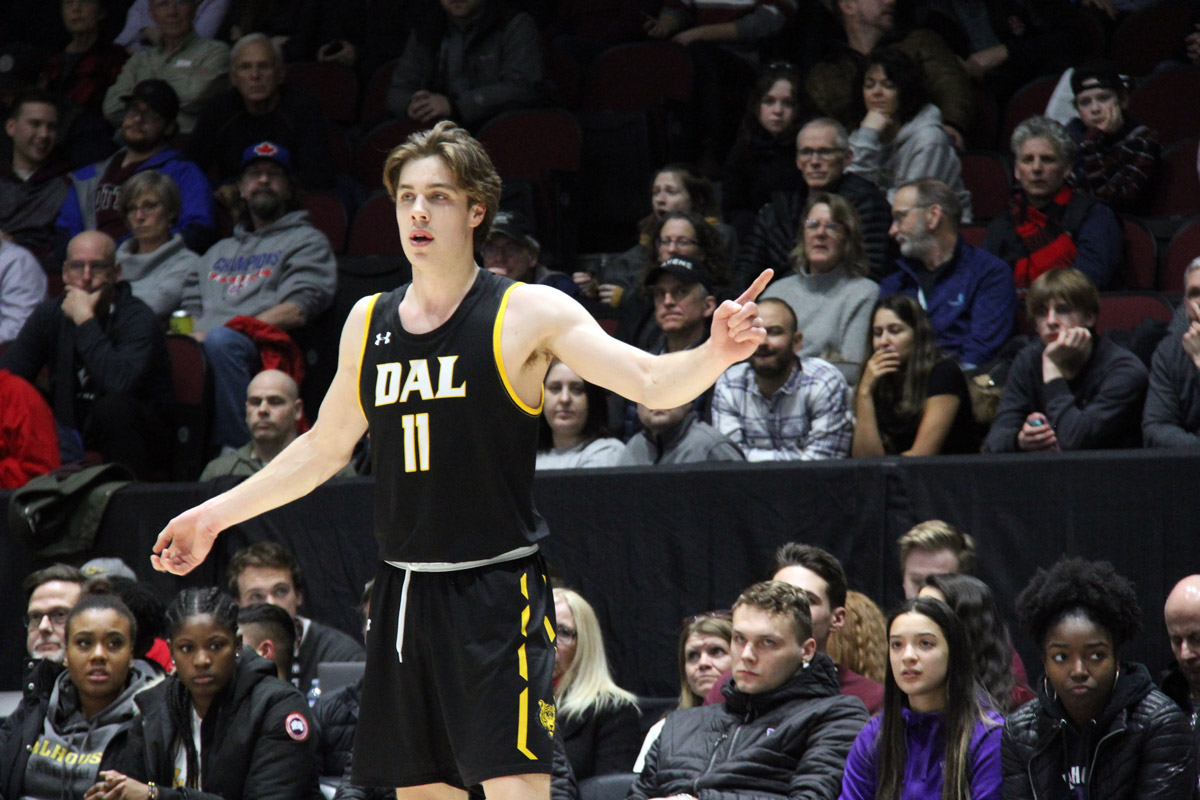 dalhousie tigers keevan veinot 2020 aus basketball most valuable player