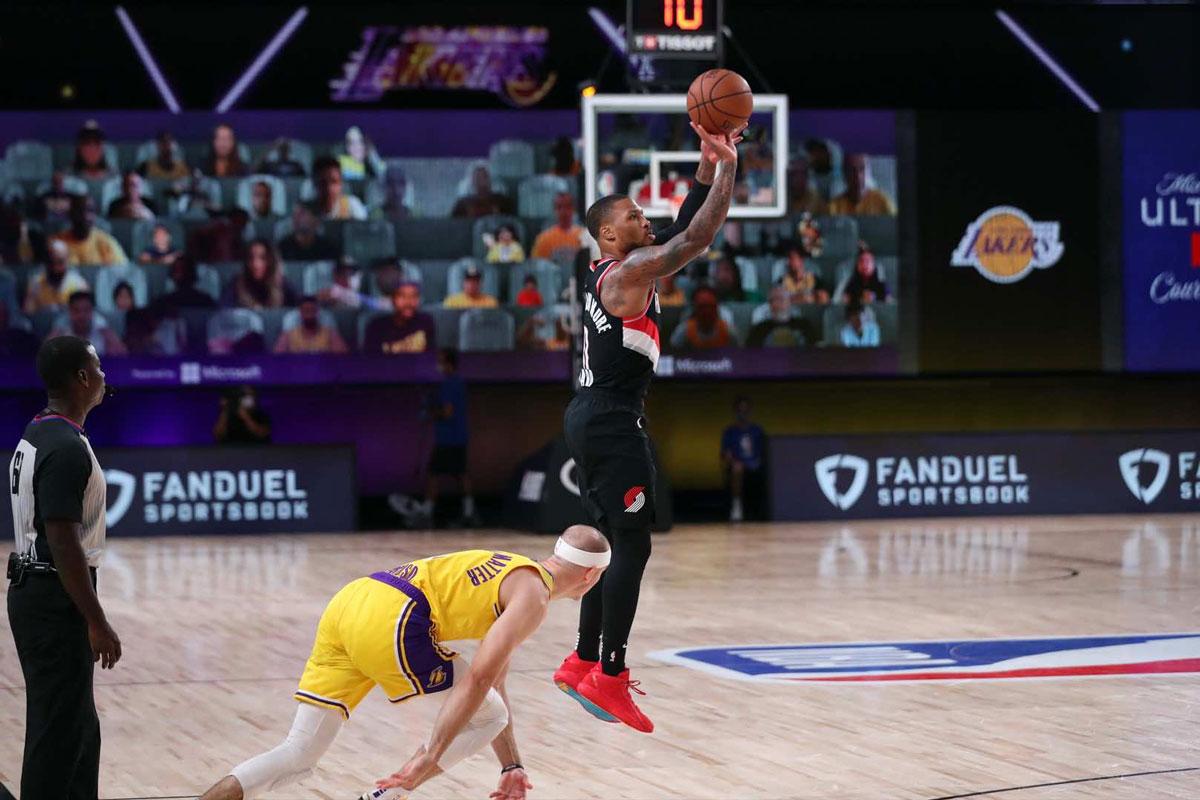 Damian Lillard and Portland Trail Blazers Blaze Lakers In Game One