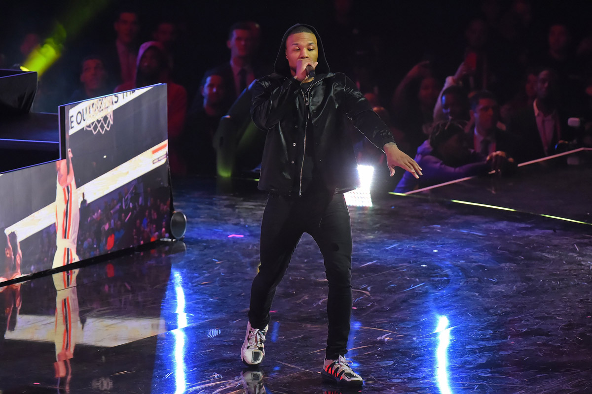 damian lillard performing 2020 nba all star game in chicago