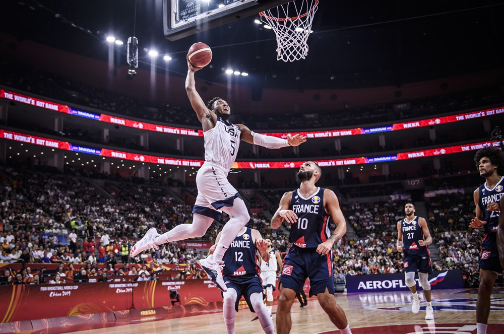 Donovan Mitchell Throws Down Thunderous Dunk Against France 2019 Fiba World Cup