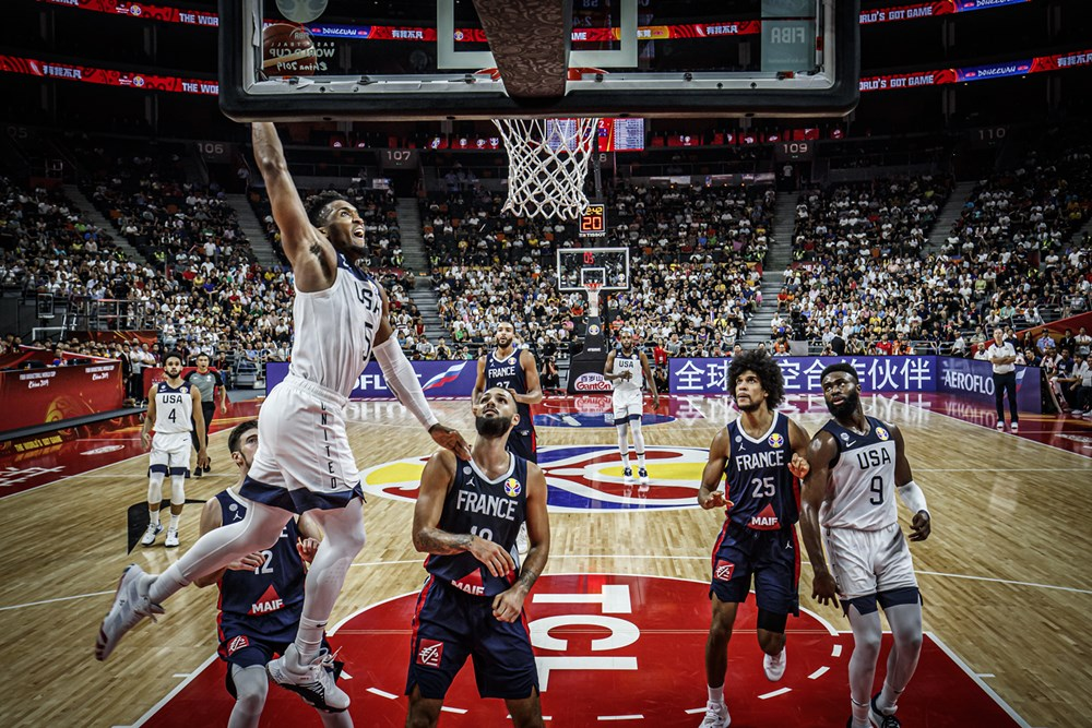 Donovan Mitchell Throws Down Vicious Dunk Against France 2019 Fiba World Cup