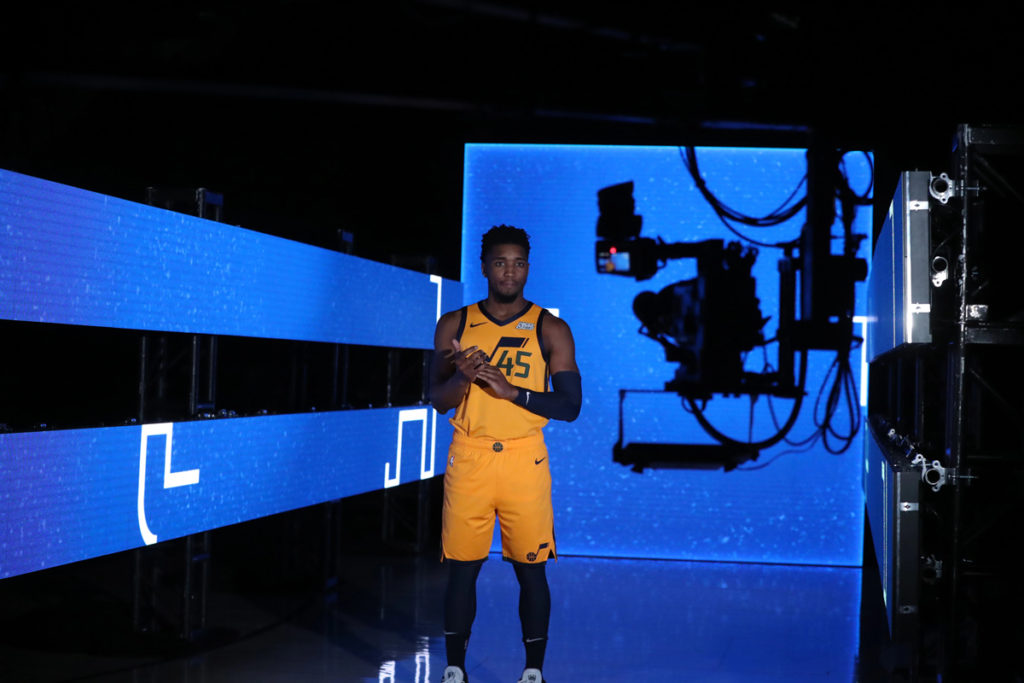 Donovan Mitchell Utah Jazz Guard 2019 NBA Media Day