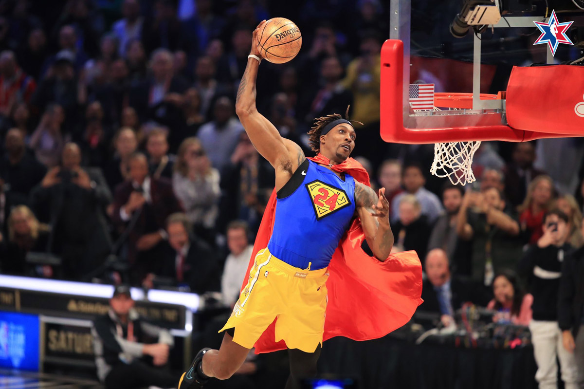 dwight howard brings back superman dunk for kobe bryant 2020 nba all star dunk contest
