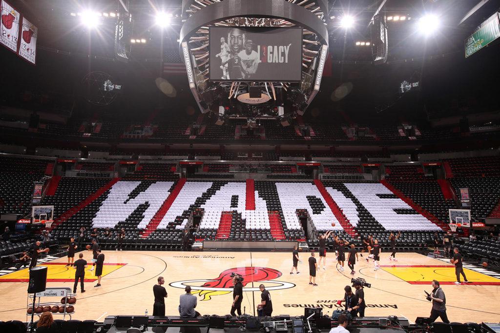 Dwyane Wade Miami Heat Covered Seats Nba