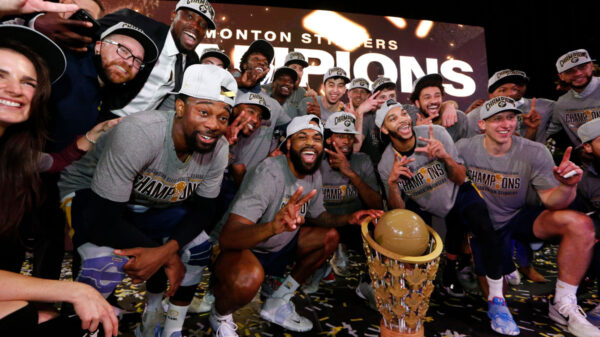 Edmonton Stingers are crowned the 2021 Canadian Elite Basketball League (CEBL) champions, defeating the Niagara River Lions 101-65
