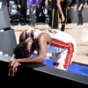 Fatigued Jimmy Butler Takes Quick Rest Miami Heat Los Angeles Lakers 2020 Nba Finals