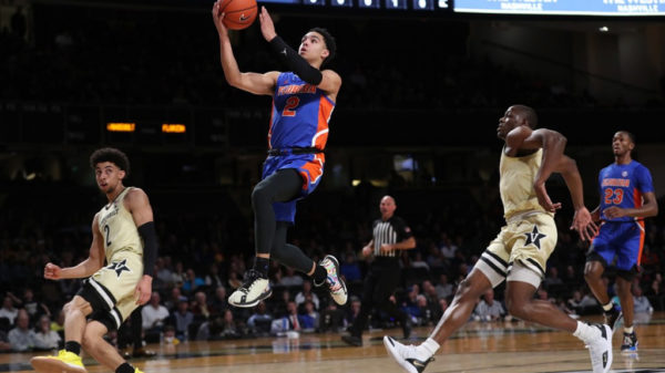 Florida Gators Guard Andrew Nembhard Goes To The Basket For A Layup Against Vanderbilt