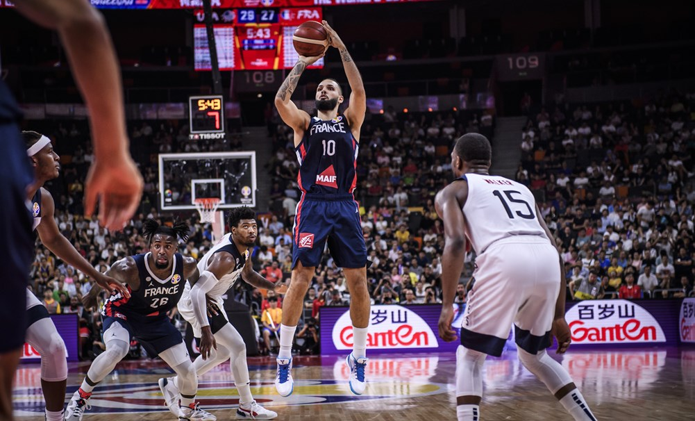 France Evan Fournier Jumper Versus Usa 2019 Fiba World Cup China
