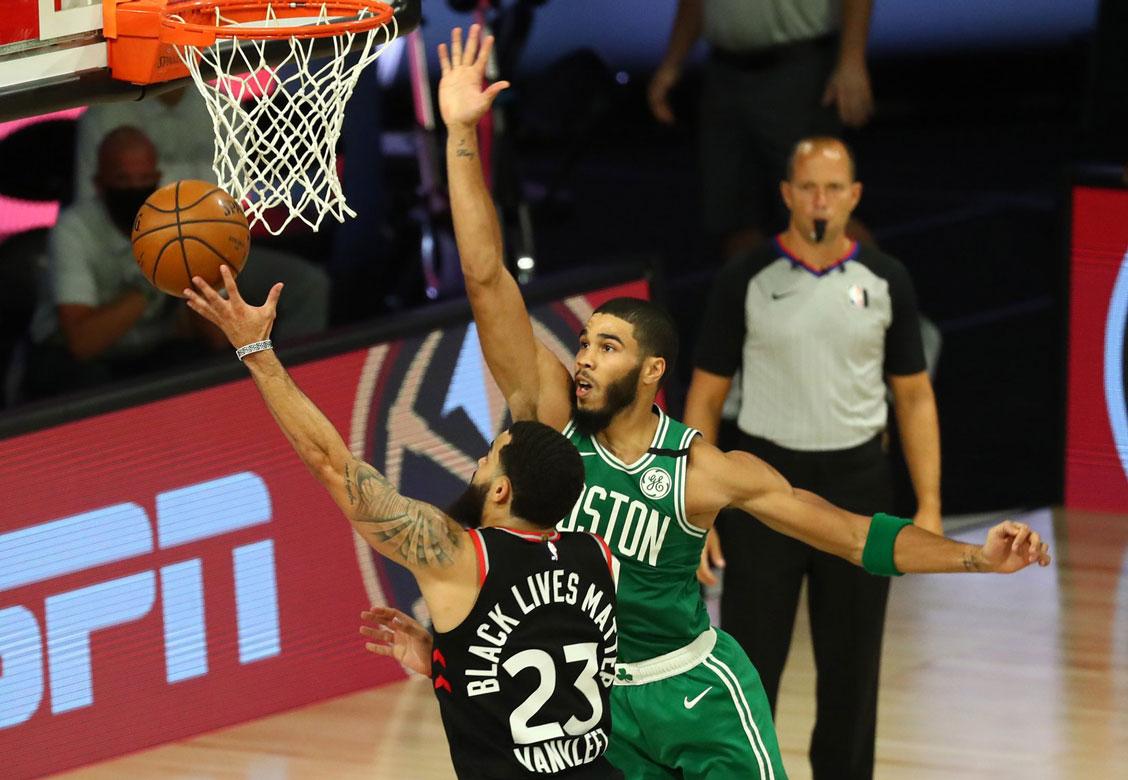 Fred VanVleet Scores Tough Layup Over Jayson Tatum 2020 NBA Playoffs Game 6