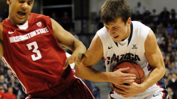 gonzaga bulldogs freshmen kevin pangos scores 33 points in record tying performance