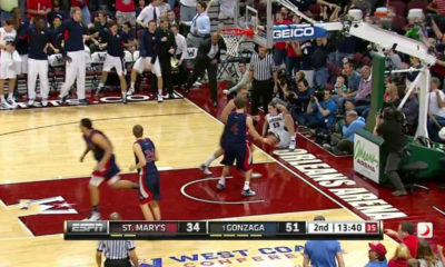 Gonzaga Wins Wcc Title Over St Marys Kelly Olynyk Posterizes Defender With Athletic Hammer