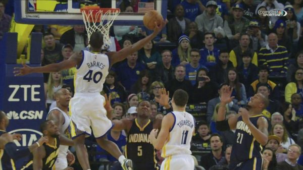Harrison Barnes spikes home Jordan-Like one-hand putback