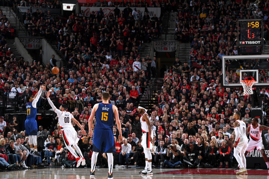Jamal Murray Delivers Playoff Career High In Classic 4ot Thriller Three Pointer Nba Playoffs