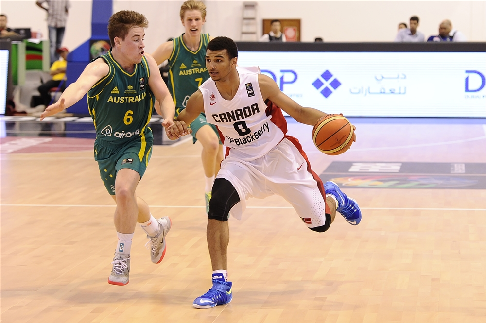 Jamal Murray & Howard Washington Jr. carry Canada past Australia at 2014 FIBA U17 World's
