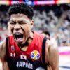 Japan's Rui Hachimura screaming at 2019 FIBA World Cup In China