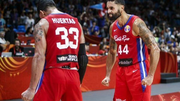 Javier Mojica David Huertas Puerto Rico Beats Iran At The Buzzer To Kick 2019 Fiba World Cup