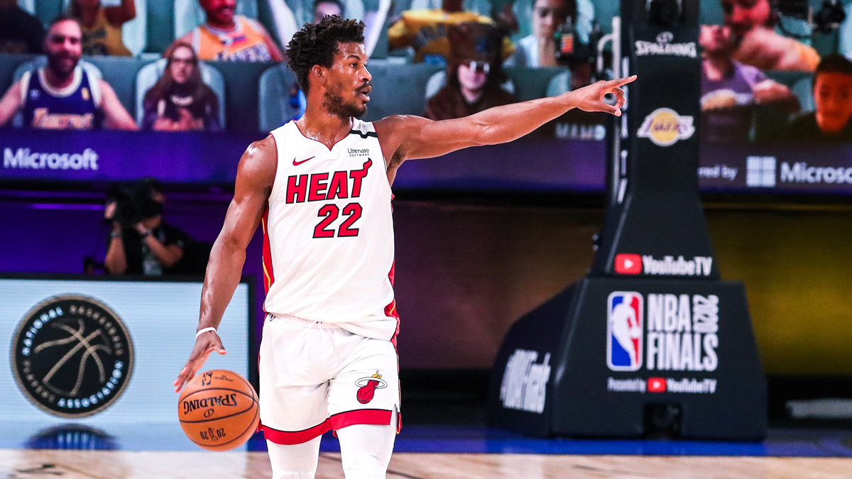 Miami Heat Guard Jimmy Butler Delivering NBA Finals Heat Against LeBron James and the Los Angeles Lakers