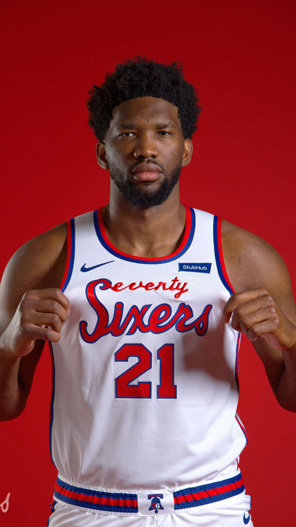 Joel Embiid New Nike Philadelphia Seventies Sixers Jerseys Are A Classic Edition