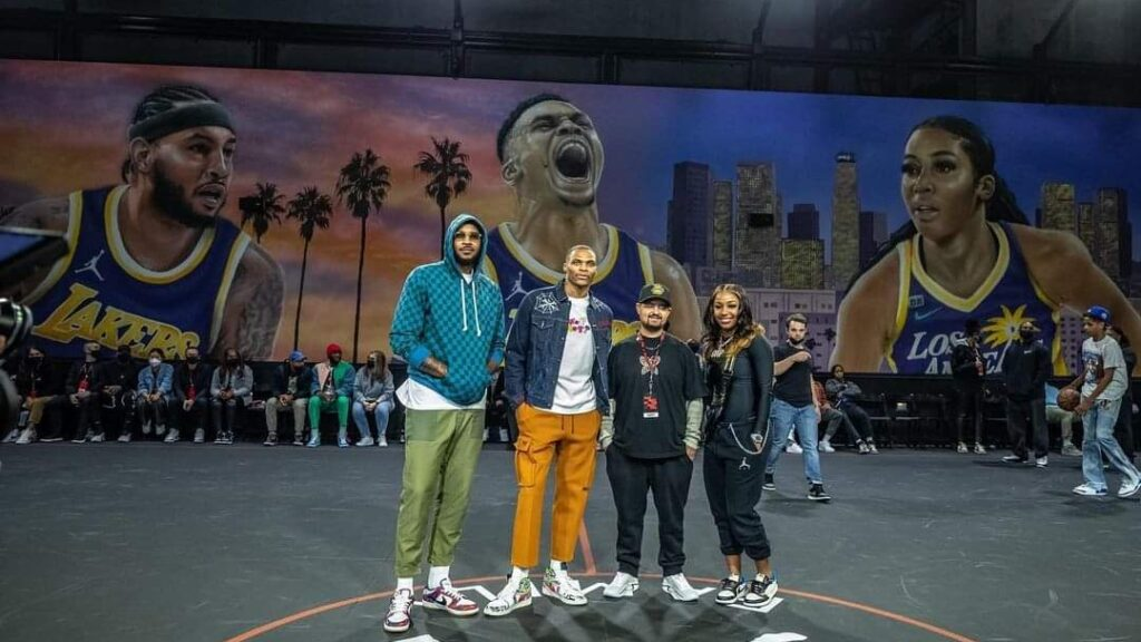 Jordan Family Mural Of City Of Lakers And Sparks Stars Is Rooted In La