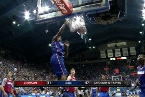 Kansas Freshmen Andrew Wiggins Hurts The Rim At Annual Late Night in the Phog (VIDEO)