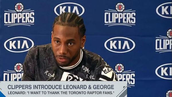 Kawhi Leonard Thanks Toronto Raptors