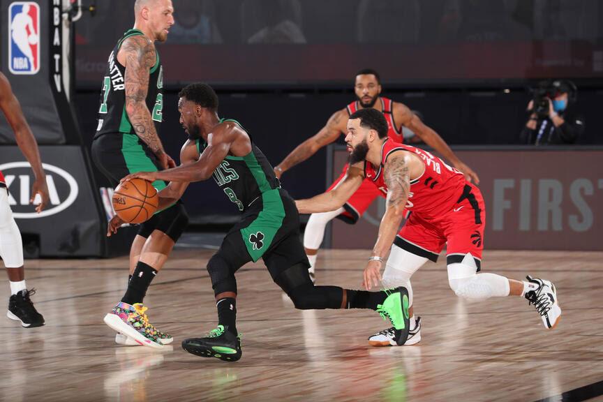 kemba walker attacks the basket boston celtics knockoff toronto raptors game 5 2020 nba playoffs