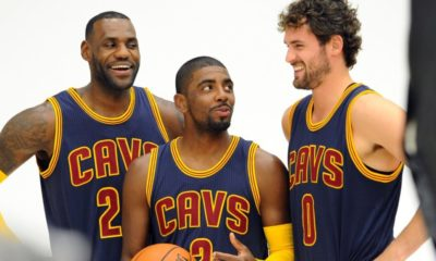 Kevin Love Lebron James Kyrie Irving Nba Cleveland Cavaliers 2015 2016 Nba Preview Eastern Conference