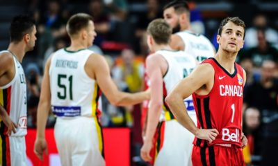 Kevin Pangos Stares At The Scoreboard Lithuania End Canadas 2019 Fiba World Cup Dreams