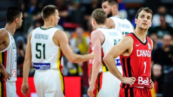 Kevin Pangos Stares At The Scoreboard Lithuania End Canadas 2019 Fiba World Cup Dreams