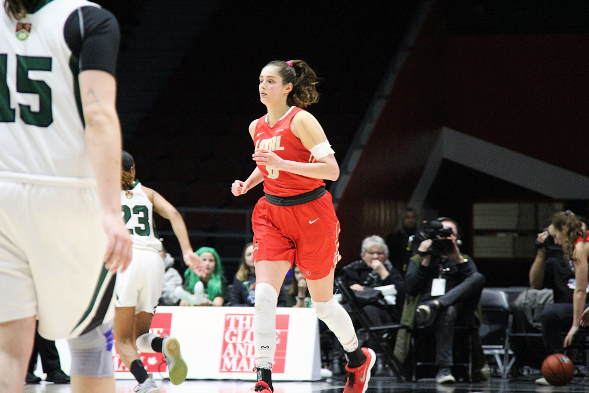 Caron-Goudreau leaves Laval as a two-time U Sports Defensive Player of the Year. She helped lead the Rouge et Or to the brink of a national title in 2019