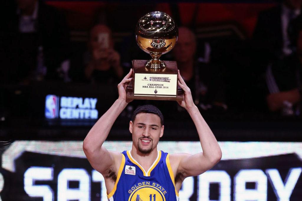 Klay Thompson 2016 NBA three-point  shootout champion - Toronto NBA-All-Star Weekend