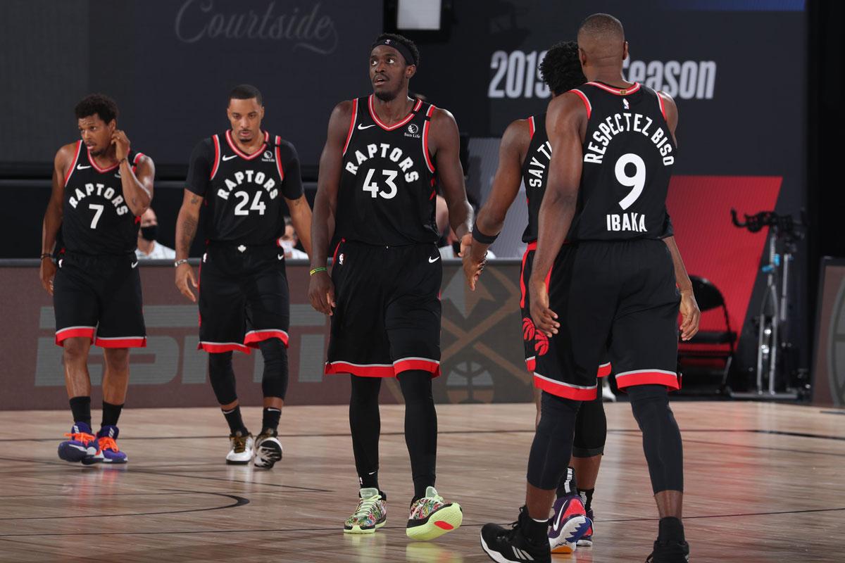 Kyle Lowry Norman Powell Pascal Siakam Og Anunoby Serge Ibaka Toronto Raptors 2020 Nba Playoffs Versus Boston Celtics
