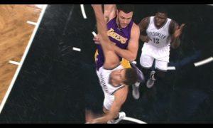 Lakers' Larry Nance Jr. Skies Over Brook Lopez