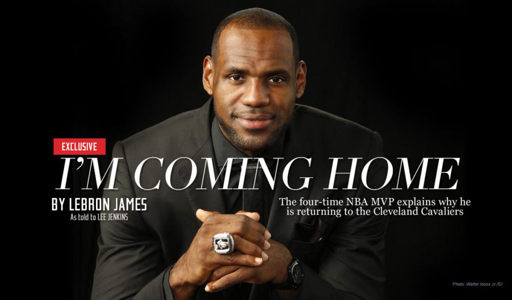 Lebron James Im Ready Accept Challenge Im Coming Home