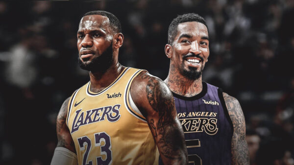 Lebron James Lakers Take A Shot With J R Smith