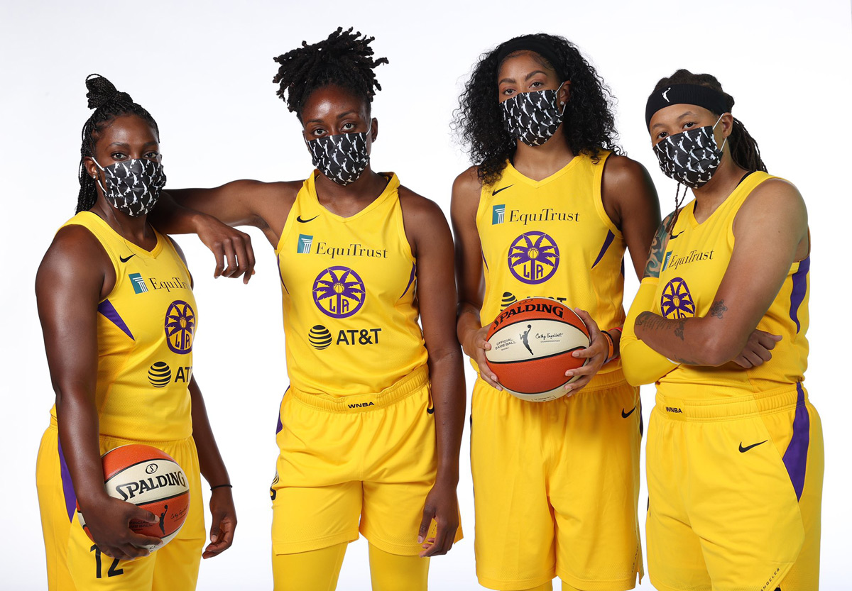 Los Angeles Sparks 2020-21 Chelsea Gray Nneka Ogwumike, Candace Parker Seimone Augustus