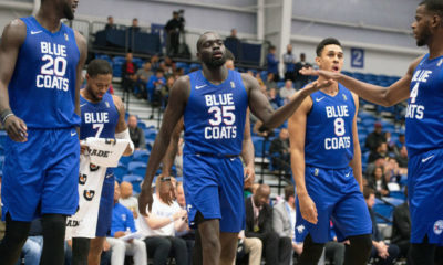 Marial Shayok 42 Points Helps Delaware Blue Coats Get First Win