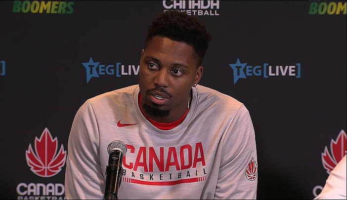 Melvin Ejim Post Game Canada Vs Australia 2019 Fiba World Cup Series