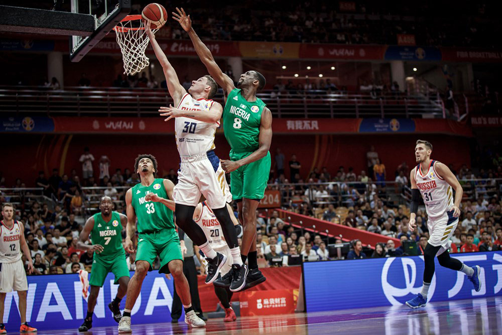Mikhail Kulagin Drives Past Nigeria 2019 Fiba World Cup