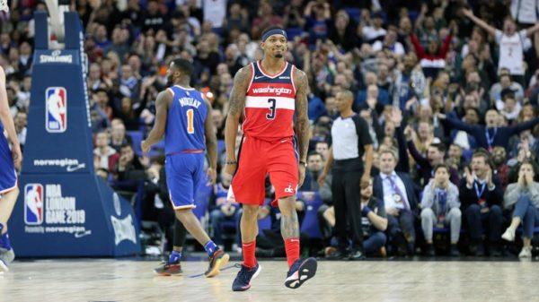 NBA London Comes Down To A Photo Finish Bradley Beal Washington Wizards versus Knicks