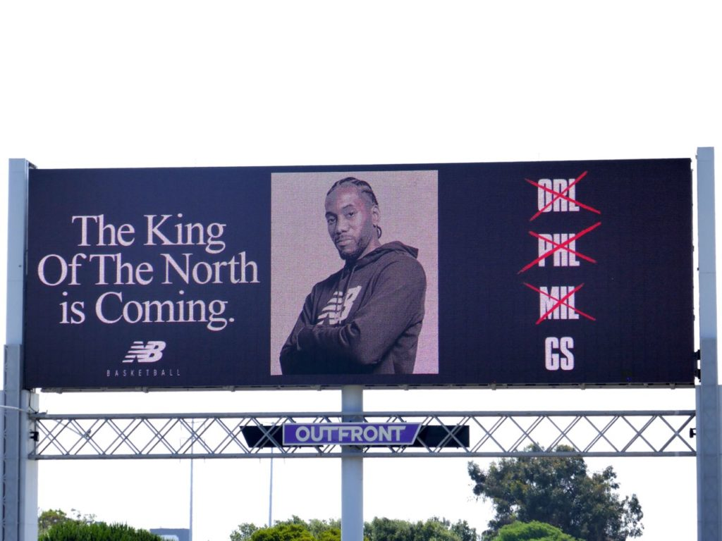 New Balance Trolls Warriors With King Of The North Is Coming Billboard.jpg