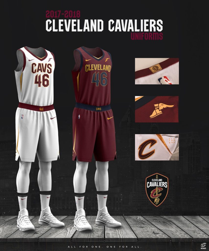 New Cleveland Cavalier Jerseys Fit For A King