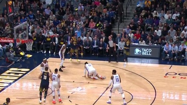 Nuggets Jamal Murray breaks Steven Adams Ankles with Filthy Handles