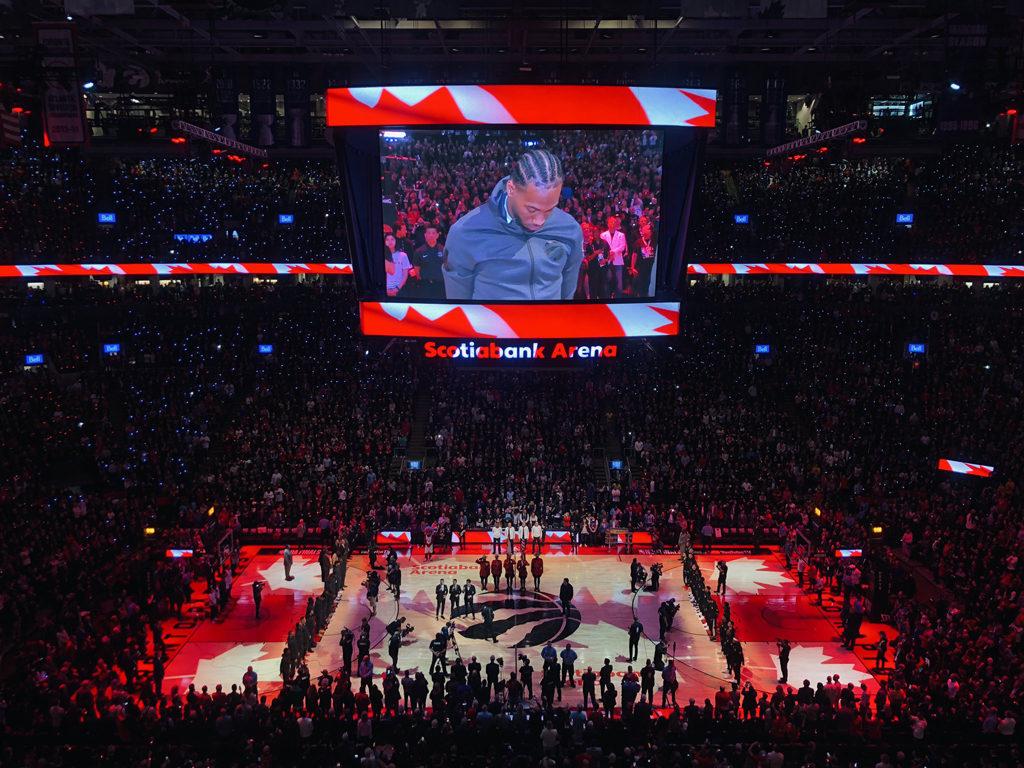 Oh Canada National Anthem Toronto Raptors Nba Finals Game 1
