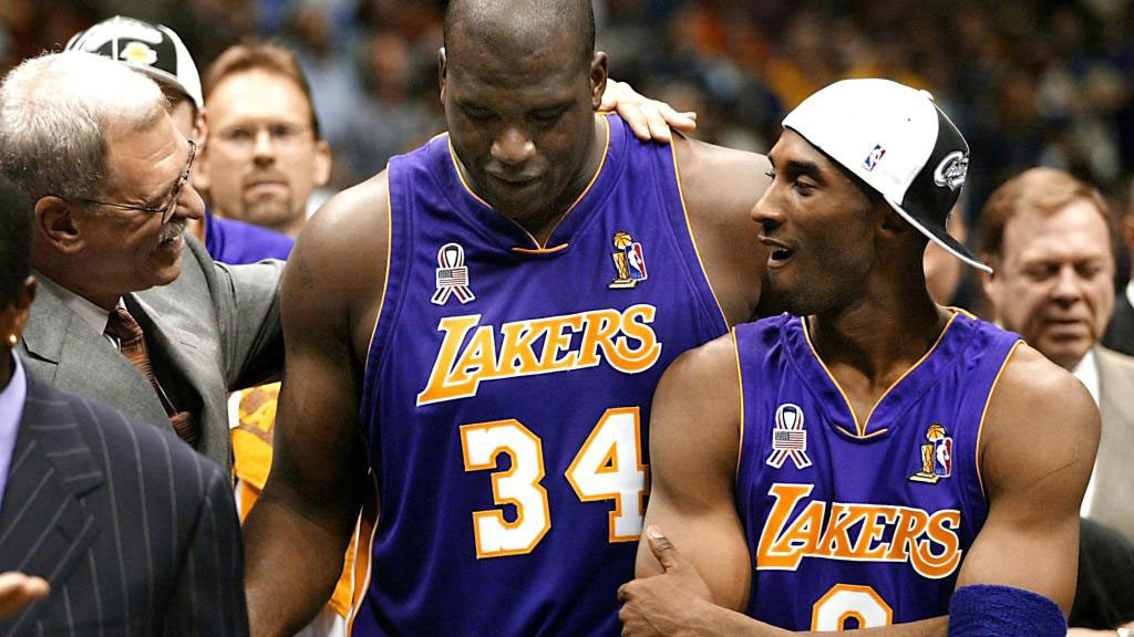 Phil Jackson Kobe Bryant Shaquille Oneal Lakers