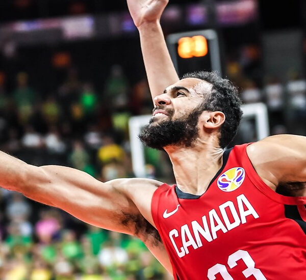 Phillip Scrubb lunges for a layup while playing with Team Canada. Scrubb and his older brother Thomas are both signed to the inaugural Ottawa BlackJacks roster in the Canadian Elite Basketball League.