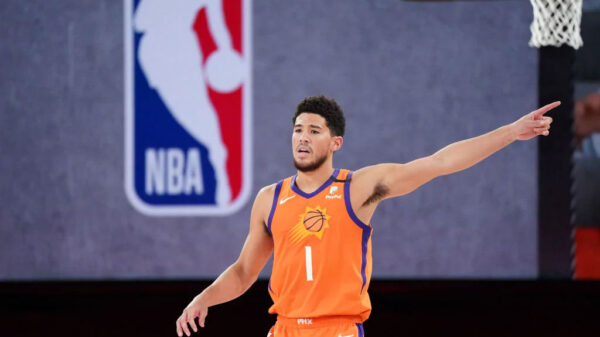 Phoenix Suns Devin Booker wrapping up the nba bubble season