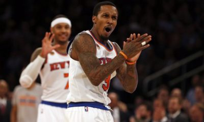 Portland Trail Knicks New Yorks Garden Brandon Jennings Carmelo Anthony