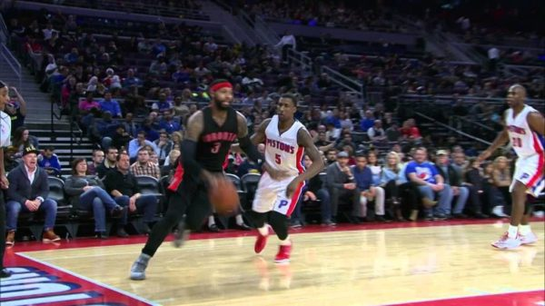 Raptors James Johnson Cocks Back The Hammer On Andre Drummond