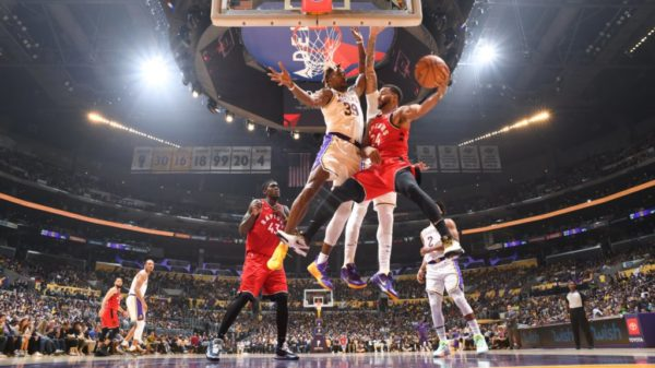 Resilient, Short-handed Raptors Hand Lakers 113-104 Home Loss